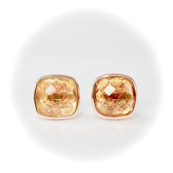 Oro Croma Citrine Earrings