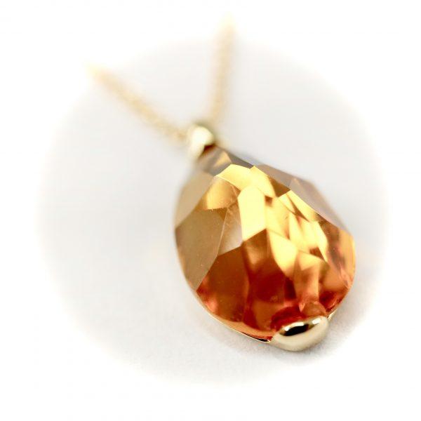 Oro Soft Citrine Pendant Nacklace