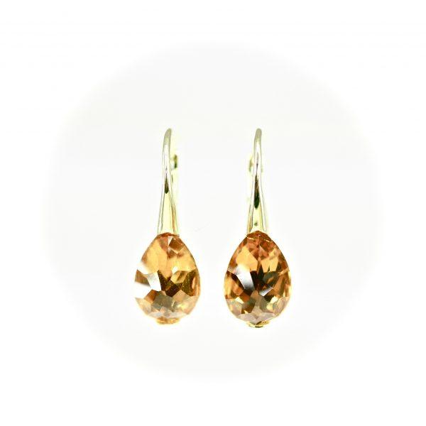 Oro Soft Citrine Earrings