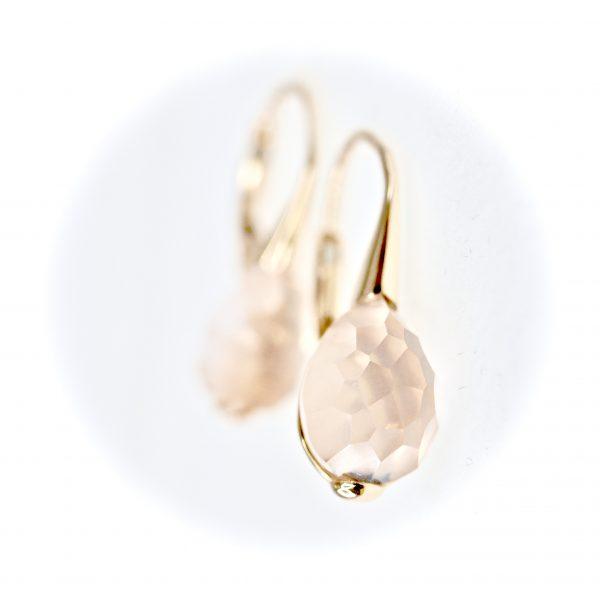 Oro Soft Rose Earrings