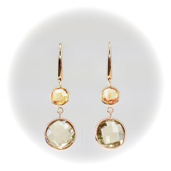 Oro Tango Citrine Earrings